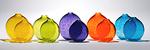 Crackle Bud Vase by Chris McCarthy (Art Glass Vase)