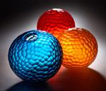 Battuto Sphere by Chris McCarthy (Art Glass Sculpture)