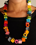 Licorice Necklace by Danielle Gori-Montanelli (Felt Necklace)