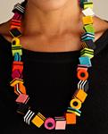 Licorice Necklace by Danielle Gori-Montanelli (Felt Necklace)