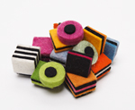 Licorice Brooch by Danielle Gori-Montanelli (Felt Brooch)