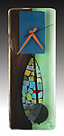 Portal Fused Glass Pendulum Clock by Nina  Cambron (Art Glass Clock)