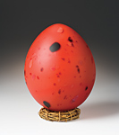 Red Dragon Egg by Elodie Holmes (Art Glass Sculpture)
