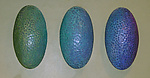 Pod Series - Cool Palette by Marilee Hall (Ceramic Wall Sculpture)