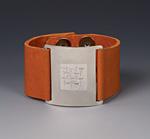 Thai Wrist Wrap by Karen Klinefelter (Silver & Leather Bracelet)