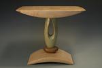 Green Teardrop End Table by Derek Secor Davis (Wood Side Table)