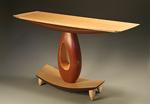 Teardrop Hall Table by Derek Secor Davis (Wood Console Table)