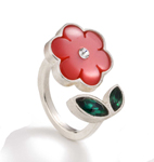 Flower Rings by Giselle Kolb (Silver& Resin Rings)