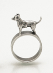 Chihuahua Ring by Kristin Lora (Silver Ring)