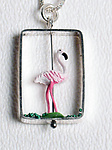Flamingo Necklace by Kristin Lora (Silver Necklace)