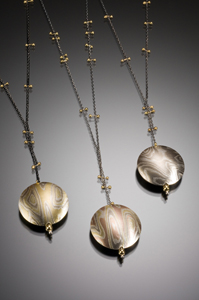 Luang Prabang Pendant: Lisa Jane Grant: Gold & Silver Pendant - Artful Home :  shopping woman necklace designer accessories