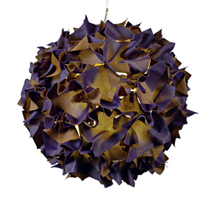 Purple Puff: Josh Urso: Fiber Pendant Lamp - Artful Home :  interior design josh urso home purple