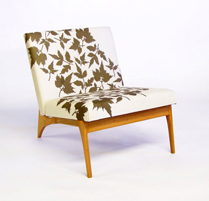 Center City Lounge Chair: Mariah Wren and Mark Cooper: Upholstered Chair - Artful Home :  interior design mod chair maple