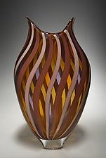 Mauve/Amber Foglio by David Patchen (Art Glass Vessel)