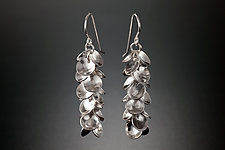 Petal Earrings by Jennifer Chin (Silver Earrings)