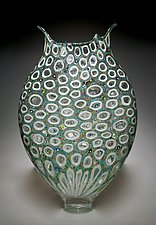 Multicolor Thread Foglio by David Patchen (Art Glass Vessel)