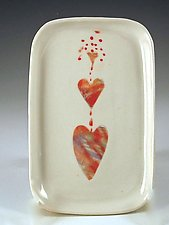 Heart Fountain by Carol Barclay (Ceramic Plate)