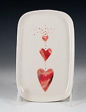 Heart Fountain by Carol Barclay (Ceramic Plate)