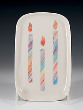 Festive Porcelain Birthday Tray by Carol Barclay (Ceramic Tray)