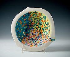 Vivid Confetti Porcelain Bowl by Carol Barclay (Ceramic Bowl)