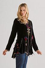 Velvet Canterbury Bells Jacket by Giselle Shepatin  (Velvet Jacket)