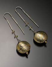 Luang Prabang Earrings in Aspen by Lisa Jane Grant (Gold & Silver Earrings)