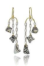 Kancamagus Earrings by Lisa Jane Grant (Gold, Silver & Stone Earrings)