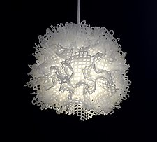 Bone Puff by Josh Urso (Fiber Pendant Lamp)