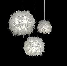 Puff Light Trio Chandelier by Josh Urso (Fiber Pendant Lamp)