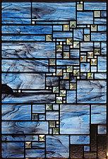 Night Lights by Josephine A. Geiger (Art Glass Wall Sculpture)