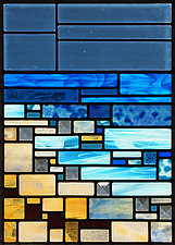 Shoreline by Josephine A. Geiger (Art Glass Sculpture)