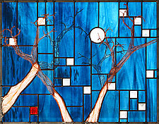 Cathedral of the Moon by Josephine A. Geiger (Art Glass Wall Sculpture)