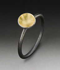 Dot Ring by Peg Fetter (Gold & Silver Ring)