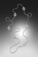 Exotic Necklace II by Jennifer Chin (Silver Necklace)
