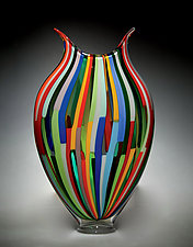 Mixed Cane Foglio by David Patchen (Art Glass Vessel)