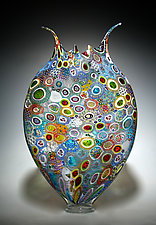 Mixed Murrini Foglio by David Patchen (Art Glass Vessel)