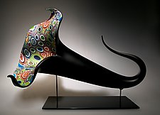 Mixed Murrini Bloom by David Patchen (Art Glass Sculpture)