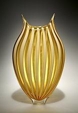 Foglio in Almond by David Patchen (Art Glass Vessel)