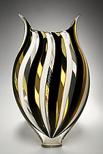 Black and White Foglio by David Patchen (Art Glass Vessel)