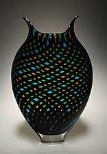 Black Twist Foglio by David Patchen (Art Glass Vessel)