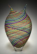 Multicolored Foglio by David Patchen (Art Glass Vessel)