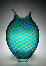 Plaid Foglio by David Patchen (Art Glass Vessel)