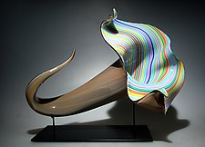 Taupe Bloom by David Patchen (Art Glass Sculpture)