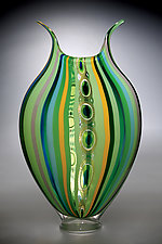 Rainforest Foglio by David Patchen (Art Glass Vessel)