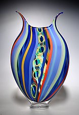 Passiflora Foglio by David Patchen (Art Glass Vessel)