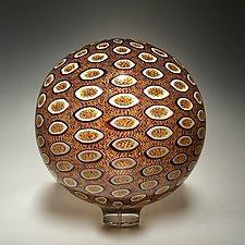 Autum Sphere by David Patchen (Art Glass Sculpture)
