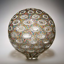 Pointillist Sphere by David Patchen (Art Glass Sculpture)