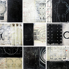 Architecture Tiles by Graceann Warn (Mixed-Media Wall Hanging)