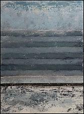 Truro, January by Graceann Warn (Mixed-Media Painting)