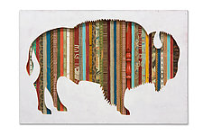 American Bison Collection by Dolan Geiman (Mixed-Media Wall Art)